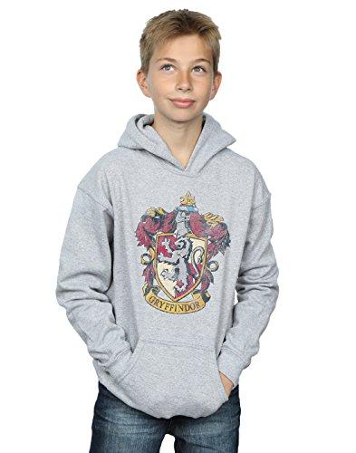 Harry Potter Jungen Gryffindor Distressed Crest Kapuzenpullover 9-11 Years Sport Grey