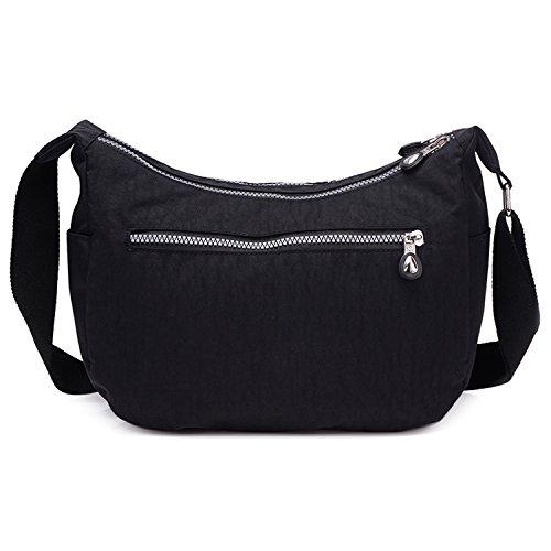 Bag Borse Nero Outreo Impermeabile Viaggio Borse Casuale Spalla Borsetta Moda a Tracolla Leggero da Borsa Borsello Sport Sacchetto Ragazze Donna qUUgxnrHt