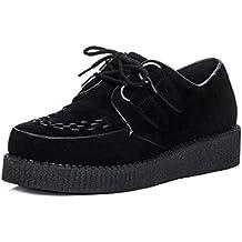 SPYLOVEBUY Quay Hombre Cordone Plataforma Planos Zapatos Creeper