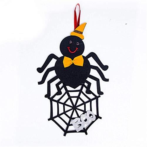 Fliyeong Halloween Spider Hanging Sign Home Wand Tür Dekoration Requisiten Indoor Outdoor Langlebig und praktisch (Halloween Spider Tür-dekoration)