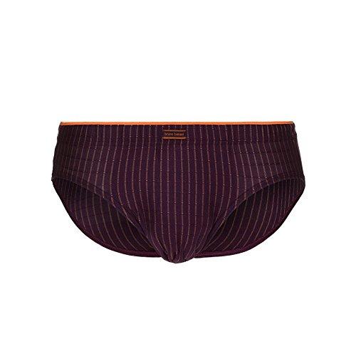 Bruno Banani Sportslip Concrete 2203-1462 (XL / 7, 1848 Pflaume / Orange Stripes)