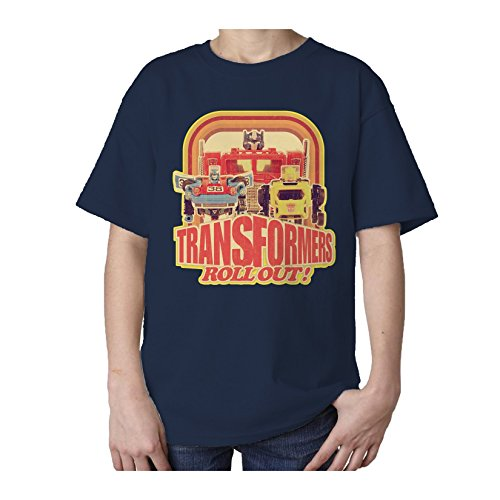Transformers Toy TF Roll Out Official Kid's T-Shirt (Navy) (1-2)