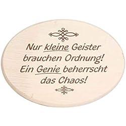 Brink Holzspielzeug Spruchbrett Nur kleine Geister brauchen Ordnung! EIN Genie beherrscht das Chaos!