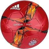 adidas Fußball FC Bayern DFL Torfabrik Capitano, Fcb True Red/White Solar- Gold/Orange/Black, 5, S90204