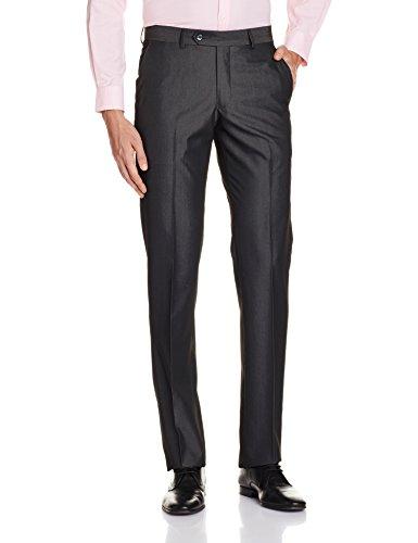 Louis Philippe Mens Formal Trousers (8907545565327_LPTF516M18582_32W x 36L_Black)