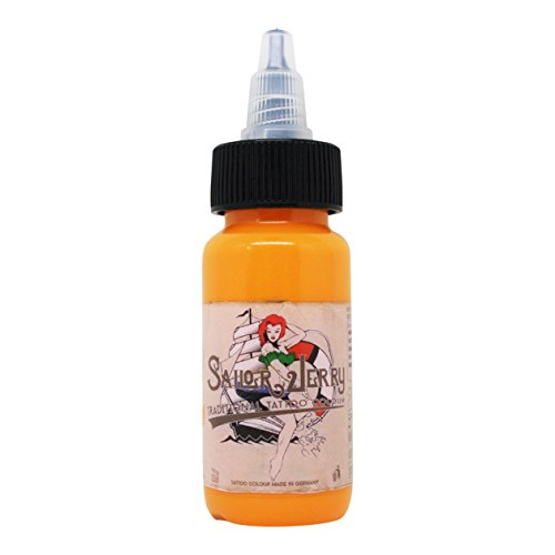Sailor Jerry Tattoofarbe helle aprikose 30 ml. Made in GERMANY und mit Zertifikat, Tätowierfarbe, Tattoo Ink, Vertrieb durch HAN-SEN GmbH