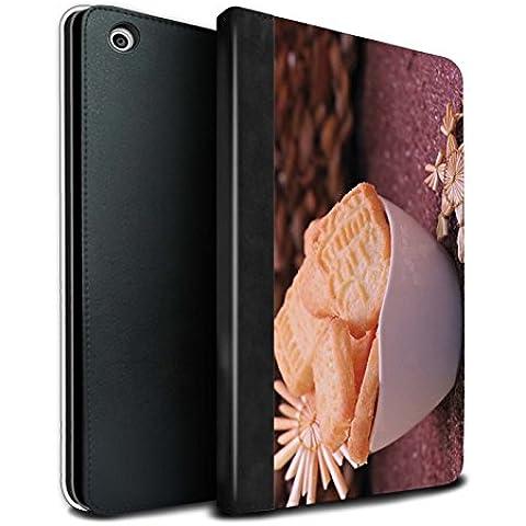 STUFF4 PU Pelle Custodia/Cover/Caso Libro per Apple iPad Mini 1/2/3 tablet / Biscotti / Cibo di Natale disegno