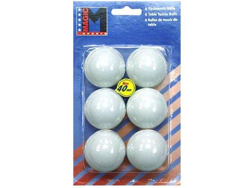MTS Sportartikel 616221 - 6 Tischtennis-Bälle 40mm weiss