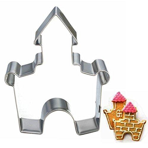 Aliciashouse Castello in acciaio inox DIY torta Cookie Cutter biscotto fondente torta stampo strumento di cottura