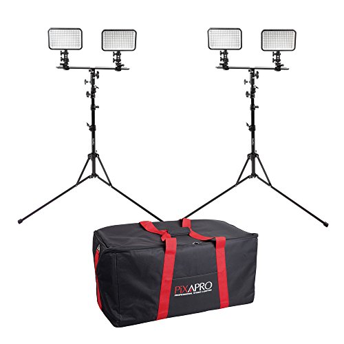 Cheapest Price for PIXAPRO® LED170 Twin Dual Kit With Stand and Carry Bag Daylight Dimmable On Camera LED Lighting Video Interview YouTube VLOG *2 Year UK Warranty *Fast Delivery *UK Stock *VAT Registered … (Twin Dual Kit, With Stand and Carry Bag) Reviews