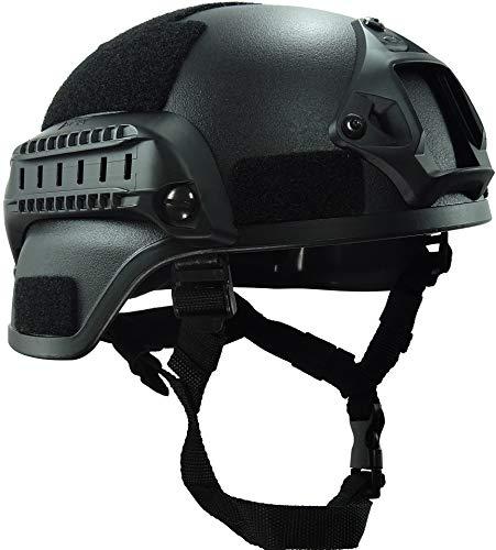 haoyk mich 2000Style Tactical Airsoft Paintball Helm mit NVG Halterung und Seite Schiene für Airsoft Paintball, schwarz