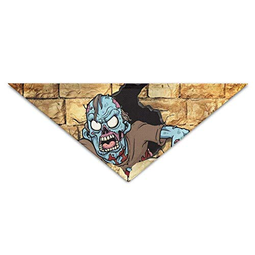 (vintage cap The Zombie Wants to Get Out of The Wall Triangle Pet Scarf Dog Bandana Pet Collars for Dog Cat - Birthday)
