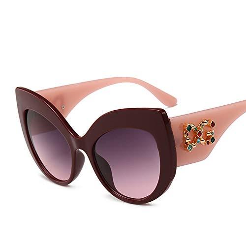 Yuanz Mode cat Eye Sonnenbrille Vintage Retro Frauen gradienten Marke Design Diamant Sonnenbrille weiblich schwarz Shades uv400,E