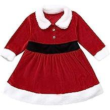 Xmiral Vestido para Invierno Regalo para Navidad Niñas