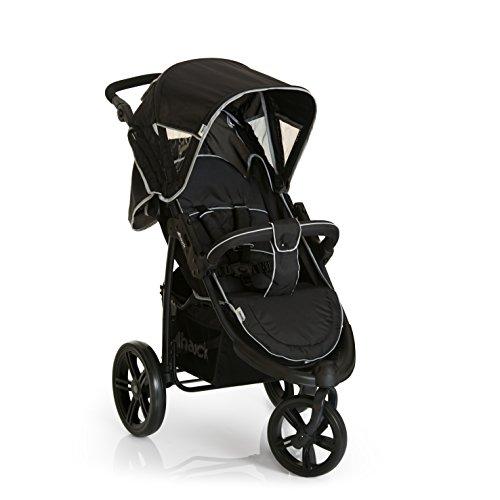 Hauck/Poussette combinée 3 en 1 Viper SLX Trio Set/nacelle / siège-auto Groupe 0 / Buggy à 3 roues/pliage compact/léger / de la naissance jusqu'à 25 kg, nois gris (caviar grey)