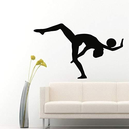 t einem Ball Sport Gymnastik Wandtattoos Home Vinyl Wandkunst Aufkleber Aufkleber Kinder Kinderzimmer Baby Zimmer Wandbild 38x57cm ()