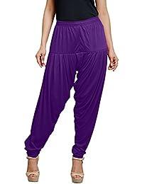 Goodtry Women's Viscose patiala Free Size - Purple