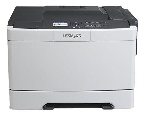 Lexmark CS410N Farblaserdrucker (1200 dpi, USB 2.0) graphit/weiß