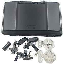 Hzjundasi Sostituire Custodia Case per Nintendo DS Consolle - Cover Anti Graffio Shell con Pulsante Kit per Nintendo DS Gioco Consolle (Nero)