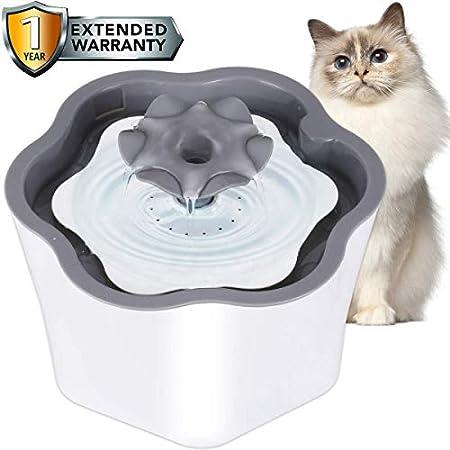 COSYLIFE Katzen Trinkbrunnen mit Filter, 2L Katzenbrunnen Intelligente Abschaltung Automatische Haustier…