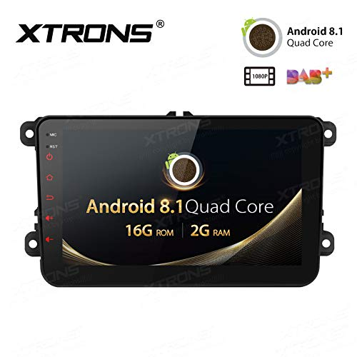 "XTRONS 8\"" Auto Touchscreen Autoradio Auto Multimedia Player mit Android 8.1 Quad-Core Multimedia Player Full RCA Ausgang WiFi 4G Bluetooth 2GB RAM 16GB ROM OBD2 FÜR Volkswagen/SEAT/Skoda"