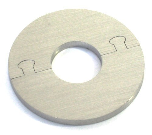 EXKLUSIVE EDELSTAHL rund Heizkörper Rosette - Einzelrosette für HEIZUNG Ø 12-28 mm (15 mm Rohrdurchmesser) -