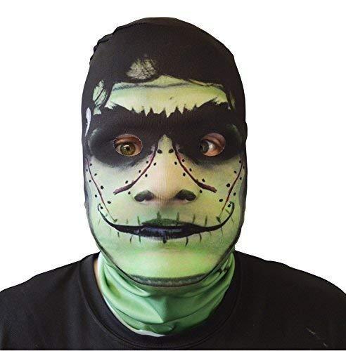 GNS 3D Effekt Freaky Frankenstein Gesicht Haut Sensenmann Halloween Horror Maske hergestellt in Yorkshire ()
