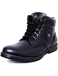 Black Tiger Men's Synthetic Leather Casual Shoes 091-Black