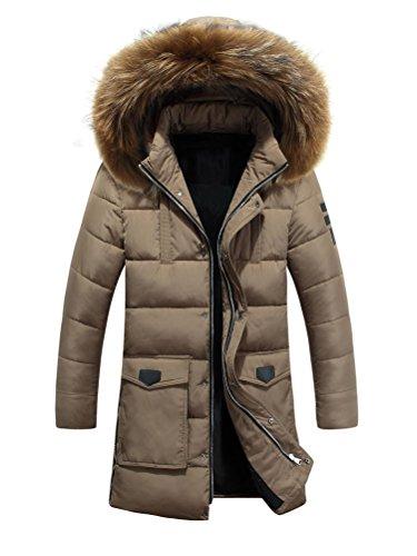 Brinny Parka homme veste hiver Blouson à capuche Manteau d'hiver Kaki