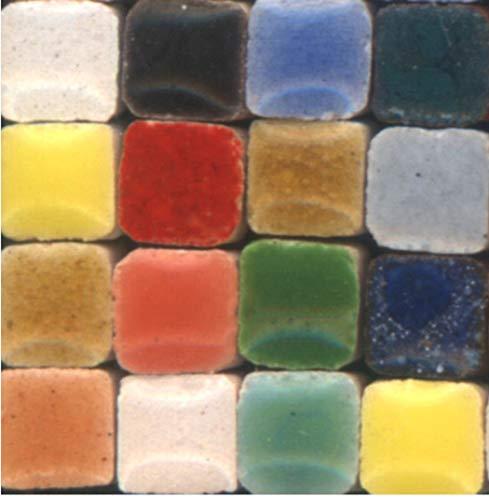 ALEA Mosaic Mosaik-Minis (3x3x2mm), 1000 Stück, Buntmix, MXAL - 2 X 2 Mosaik