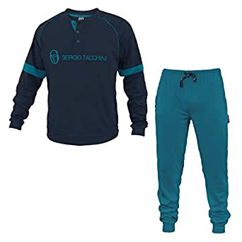 sergio tacchini ensemble de pyjama homme bleu bleu fonc v tements et accessoires. Black Bedroom Furniture Sets. Home Design Ideas