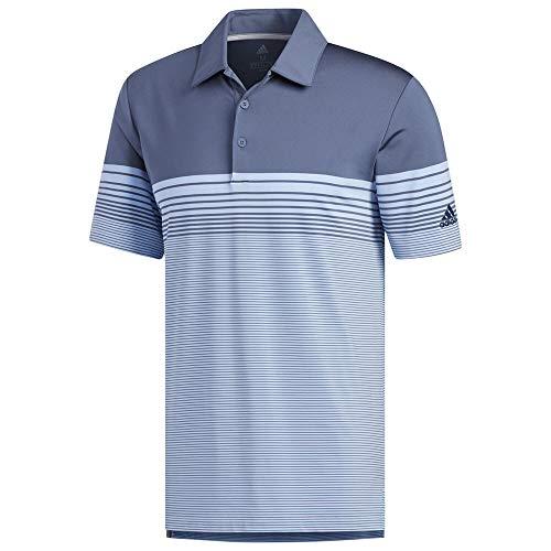 6027abc290241 adidas Golf Men's Ultimate Gradient Block Stripe Polo, Tech Ink, X-Large