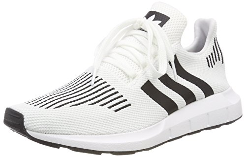 adidas Swift Run, Zapatillas Unisex Adulto, Amarillo (Footwear White/Core Black/Medium Grey Gris Heather 0), 42 EU