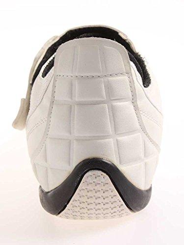 Kappa Baskets Chaussures fermeture velcro chaussures Simili-cuir Chaussures de sport pour hommes 1388 Blanc