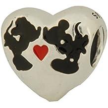 PANDORA DISNEY MINNIE & MICKEY KISS WITH ENAMEL CHARM 791443ENMX by silverStarz