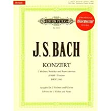 Bach J.S. Double Concerto in d minor, BWV 1043 Two Violins and Piano - Book/CD set - David Oistrakh