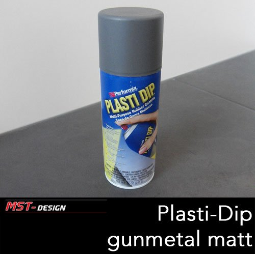 Plasti Dip Spray (Performix PLASTI DIP® Original aus USA Flüssiggummi Spray Felgenfolie Gummi Lack gunmetal grau matt 325 ml (1 Liter = 49,20 Euro) Sprühfolie Gummifolie / Lackierzubehör Wassertransferdruck Water transfer printing Hydrographics)