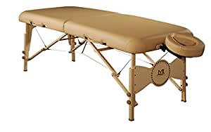 Master Massage 71cm Midas Plus Mobil tragbar Massageliege Massagebett Massagebank Kosmetikliege (Sahne)