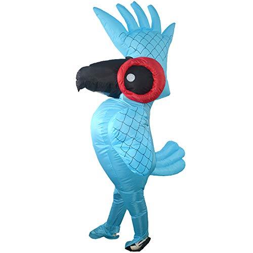 Erwachsene Papagei Für Kostüm - Decdeal Aufblasbares Kostüm Papagei Erwachsen Fatsuit Lüfter Gebläse für Halloween Fasching Cosplay Karneval Party