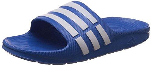 adidas Duramo Slides, Jungen Dusch- & Badeschuhe, Blau (Bahia Blue S14/Running White Ftw/Bahia Blue S14), 31 EU