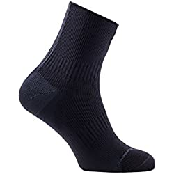 SealSkinz-Calcetines Road Ankle con Hydro Stop Socks-Agua Densidad Calcetines, Negro/Gris, L (43