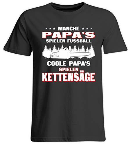 Coole Papa's Spielen Kettensäge - Holz-Shirt/Holzfäller/Vatertag/Axt/Pullover - Übergrößenshirt -5XL-Tief Schwarz