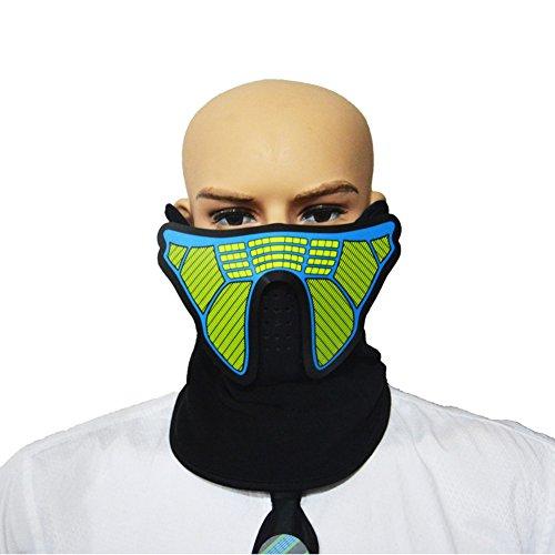 g Gesichtsmaske Party Masken-Voice & Sound-Aktiviert, Atmungsaktiv, Leichtgewicht - Perfekt für Halloween, Partys, Raves, Musikfestivals, Reiten & Snowboarden (A8) ()