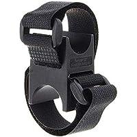 SDYDAY Soporte de soporte para linterna de bicicleta, soporte de abrazadera, linterna, manillar, bloqueo, clip, barra de rueda delantera/soporte de luz delantera, soporte para linterna, color negro