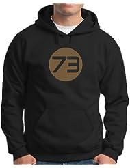 Touchlines Herren Kapuzenpullover Sheldons Best Number 73 Kapuzen Sweatshirt