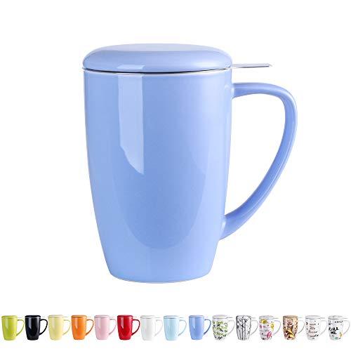 LOVECASA Porzellan Teetasse mit Deckel und Sieb
