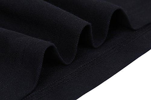 Schonlos Herren Poloshirt Kurzarm Patchwork Sommer T-Shirt Men's Polo Shirt Schwarz