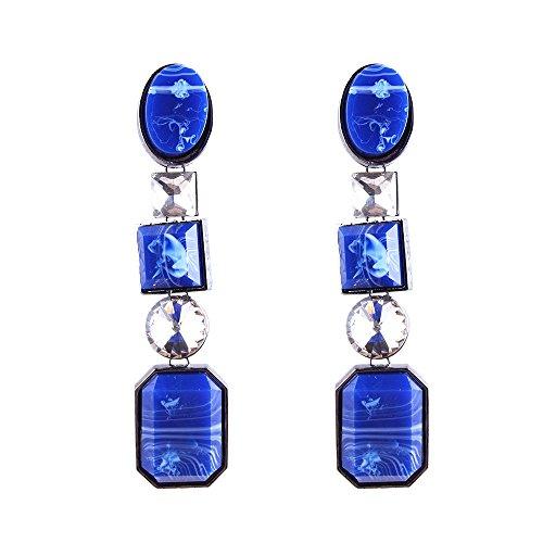 Neue, mit Diamanten besetzte Ohrringe aus Harz, helle und stilvolle vielseitige schicke personalisierte Ohrringe, helle Farben, machen Ihr Leben ()