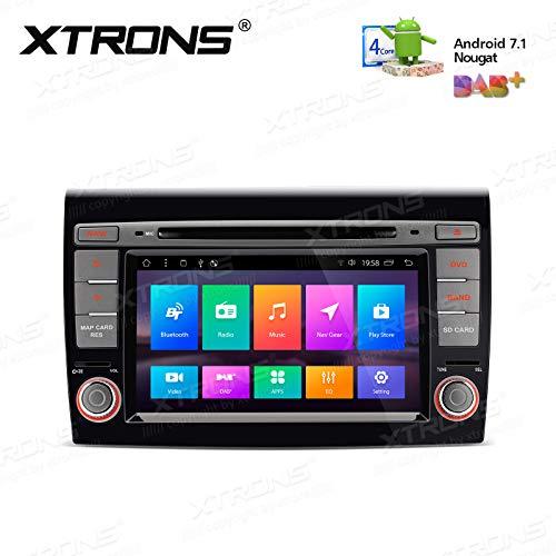 "XTRONS 7"" Touch Screen Autoradio mit Android 7.1 Quad-Core DVD-Player Autostereo unterstützt 3G 4G RCA Bluetooth5.0 Auto Musik Streaming 16GB ROM DAB&OBD2 FÜR FIAT Bravo (198) (2007-2014)"