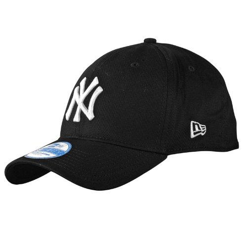 New Era Herren Baseball Cap Mütze M/LB Basic NY Yankees 39Thirty Stretch Back schwarz